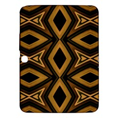 Tribal Diamonds Pattern Brown Colors Abstract Design Samsung Galaxy Tab 3 (10.1 ) P5200 Hardshell Case