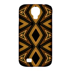 Tribal Diamonds Pattern Brown Colors Abstract Design Samsung Galaxy S4 Classic Hardshell Case (PC+Silicone)