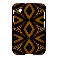 Tribal Diamonds Pattern Brown Colors Abstract Design Samsung Galaxy Tab 2 (7 ) P3100 Hardshell Case