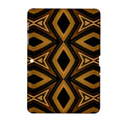 Tribal Diamonds Pattern Brown Colors Abstract Design Samsung Galaxy Tab 2 (10.1 ) P5100 Hardshell Case