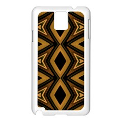 Tribal Diamonds Pattern Brown Colors Abstract Design Samsung Galaxy Note 3 N9005 Case (White)