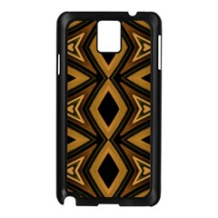 Tribal Diamonds Pattern Brown Colors Abstract Design Samsung Galaxy Note 3 N9005 Case (Black)