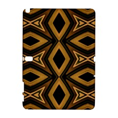 Tribal Diamonds Pattern Brown Colors Abstract Design Samsung Galaxy Note 10.1 (P600) Hardshell Case