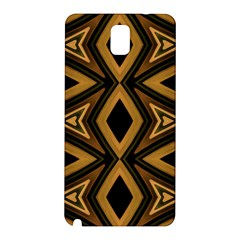Tribal Diamonds Pattern Brown Colors Abstract Design Samsung Galaxy Note 3 N9005 Hardshell Back Case