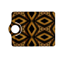 Tribal Diamonds Pattern Brown Colors Abstract Design Kindle Fire Hd 7  (2nd Gen) Flip 360 Case