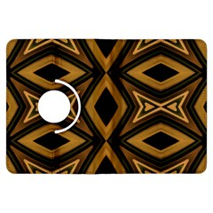Tribal Diamonds Pattern Brown Colors Abstract Design Kindle Fire HDX 7  Flip 360 Case