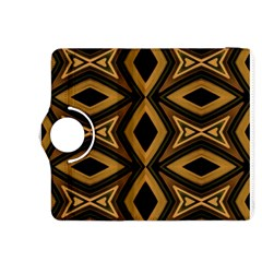 Tribal Diamonds Pattern Brown Colors Abstract Design Kindle Fire HDX 8.9  Flip 360 Case