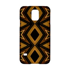 Tribal Diamonds Pattern Brown Colors Abstract Design Samsung Galaxy S5 Hardshell Case
