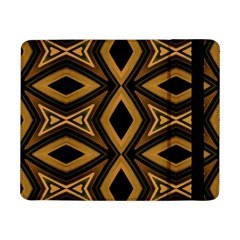 Tribal Diamonds Pattern Brown Colors Abstract Design Samsung Galaxy Tab Pro 8 4  Flip Case