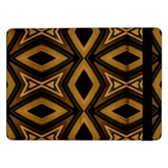 Tribal Diamonds Pattern Brown Colors Abstract Design Samsung Galaxy Tab Pro 12 2  Flip Case