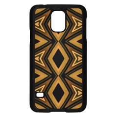 Tribal Diamonds Pattern Brown Colors Abstract Design Samsung Galaxy S5 Case (black)