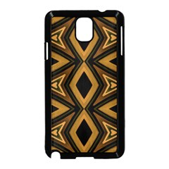 Tribal Diamonds Pattern Brown Colors Abstract Design Samsung Galaxy Note 3 Neo Hardshell Case (Black)