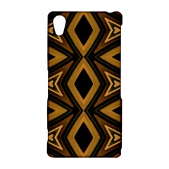 Tribal Diamonds Pattern Brown Colors Abstract Design Sony Xperia Z2 Hardshell Case
