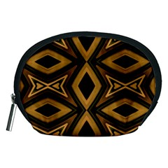 Tribal Diamonds Pattern Brown Colors Abstract Design Accessory Pouch (Medium)