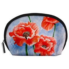 Poppies Accessory Pouch (Large)