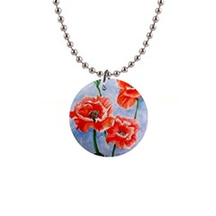 Poppies Button Necklace