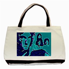 Led Zeppelin Digital Painting Twin-sided Black Tote Bag