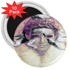 Tentacles Of Pain 3  Button Magnet (10 Pack)