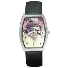 Tentacles Of Pain Tonneau Leather Watch