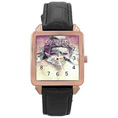Tentacles Of Pain Rose Gold Leather Watch