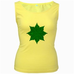 Decorative Ornament Isolated Plants Women s Tank Top (yellow)