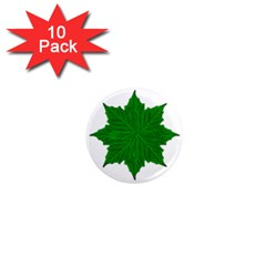 Decorative Ornament Isolated Plants 1  Mini Button Magnet (10 pack)