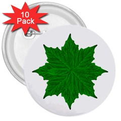 Decorative Ornament Isolated Plants 3  Button (10 Pack)