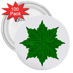 Decorative Ornament Isolated Plants 3  Button (100 Pack)
