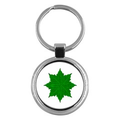 Decorative Ornament Isolated Plants Key Chain (Round)