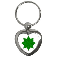 Decorative Ornament Isolated Plants Key Chain (heart)
