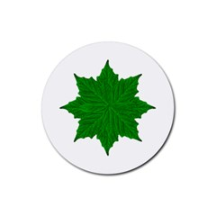 Decorative Ornament Isolated Plants Drink Coaster (Round)