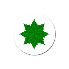 Decorative Ornament Isolated Plants Magnet 3  (round)