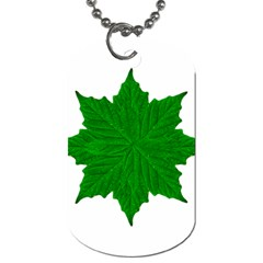 Decorative Ornament Isolated Plants Dog Tag (two Sided)