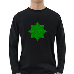 Decorative Ornament Isolated Plants Men s Long Sleeve T-shirt (Dark Colored)