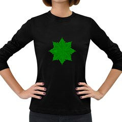 Decorative Ornament Isolated Plants Women s Long Sleeve T-shirt (Dark Colored)