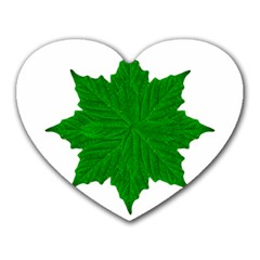 Decorative Ornament Isolated Plants Mouse Pad (heart)