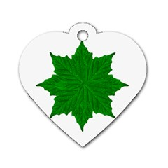 Decorative Ornament Isolated Plants Dog Tag Heart (One Sided)