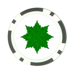 Decorative Ornament Isolated Plants Poker Chip