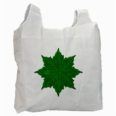 Decorative Ornament Isolated Plants White Reusable Bag (two Sides)
