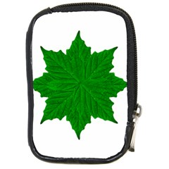 Decorative Ornament Isolated Plants Compact Camera Leather Case