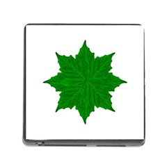 Decorative Ornament Isolated Plants Memory Card Reader With Storage (square)