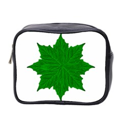 Decorative Ornament Isolated Plants Mini Travel Toiletry Bag (two Sides)