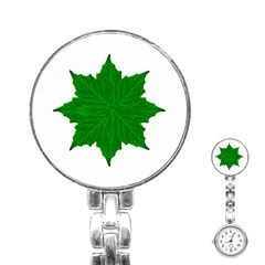 Decorative Ornament Isolated Plants Stainless Steel Nurses Watch