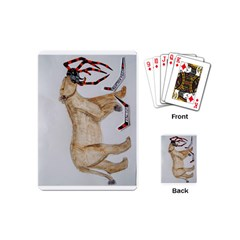 Giant Spider Fights Lion  Playing Cards (Mini)