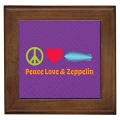 Peace Love & Zeppelin Framed Ceramic Tile