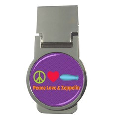 Peace Love & Zeppelin Money Clip (round)