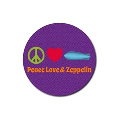 Peace Love & Zeppelin Drink Coaster (Round)