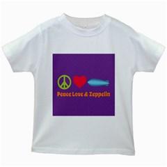 Peace Love & Zeppelin Kids T-shirt (White)