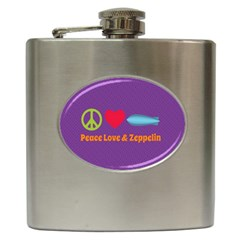 Peace Love & Zeppelin Hip Flask