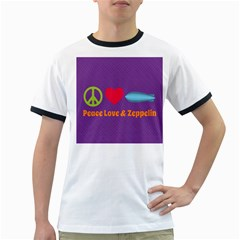Peace Love & Zeppelin Men s Ringer T-shirt